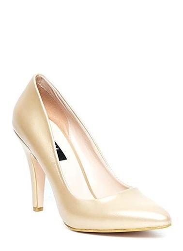 Kuum İnce Topuklu Ayakkabı Altın